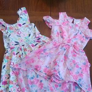 Bundle of 2 Girls Summer Dresses